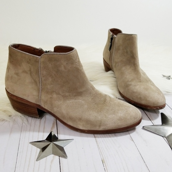 4830b9680 Sam Edelman Petty ankle boots tan taupe suede 7.5.  M 5c4804583c9844beb20b40d5